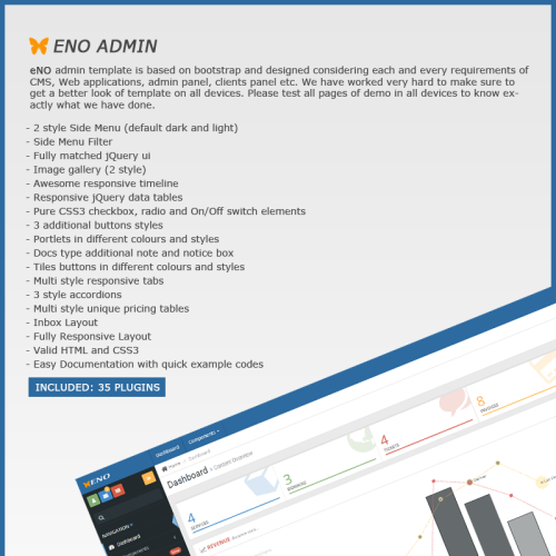 eNo Admin - Admin Template based on Bootstrap