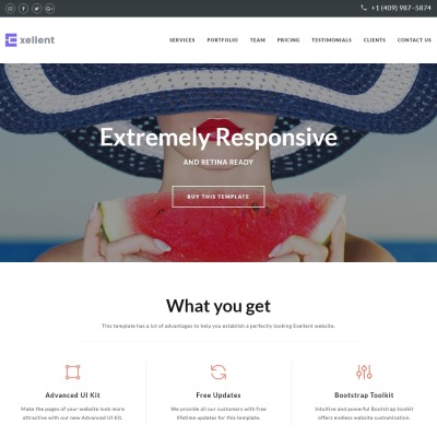 Exellent - Startup Landing Page Template #64886