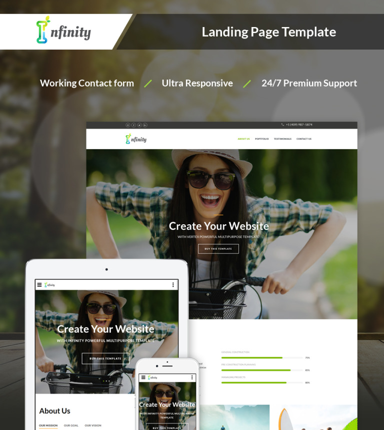 Personal Landing Page HTML Template - Personal landing page template