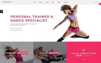 Kate Johnson - Dance Trainer Joomla Template