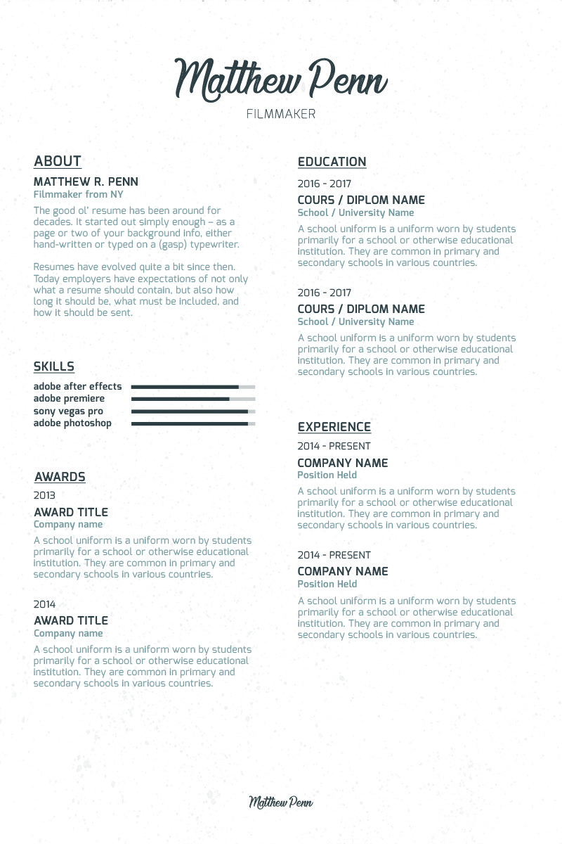 filmmaker resume stage manager resume template resume examples