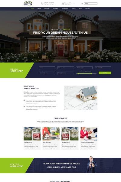 Modèle Web  pour site d'agence immobilière #64874