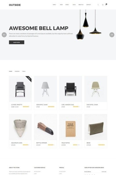 "Modello WooCommerce #64841 ""Outside - Minimalist"" #64841"