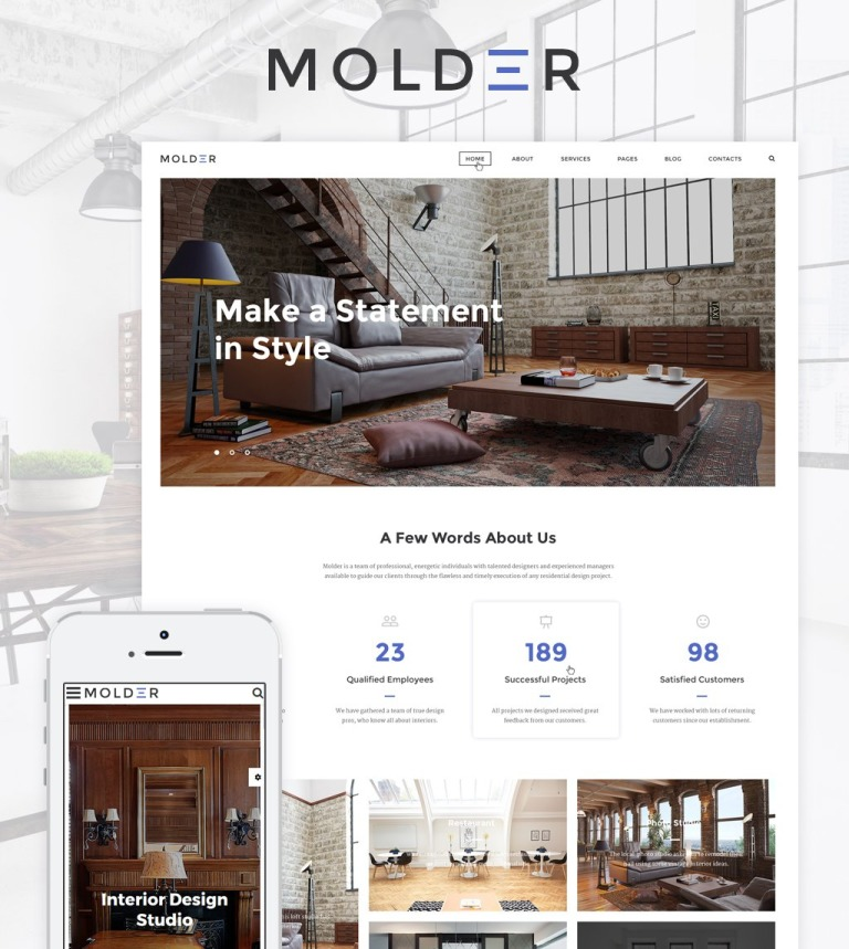 Molder - Interior Design Website Template New Screenshots BIG
