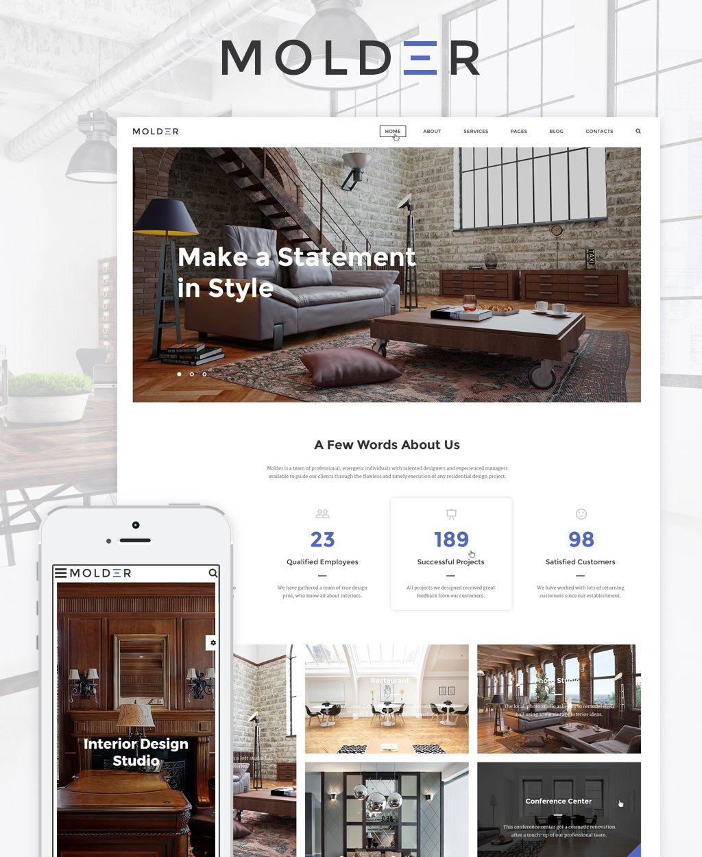 Molder   Interior Design Website Template #64844