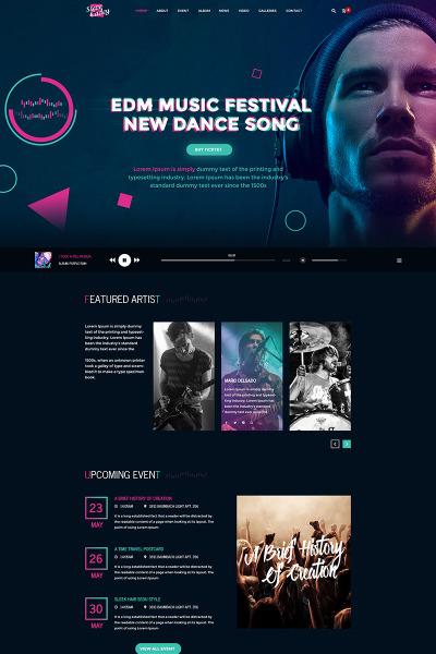 music website templates