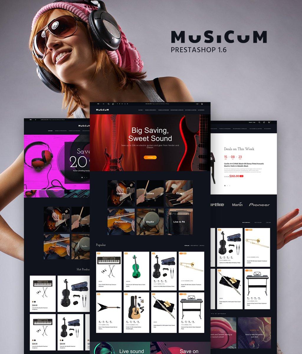 """Musicum"" - адаптивний PrestaShop шаблон №64882"