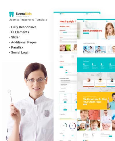 Responsive Plantilla Joomla #64832 para Sitio de  para Sitio de Odontología