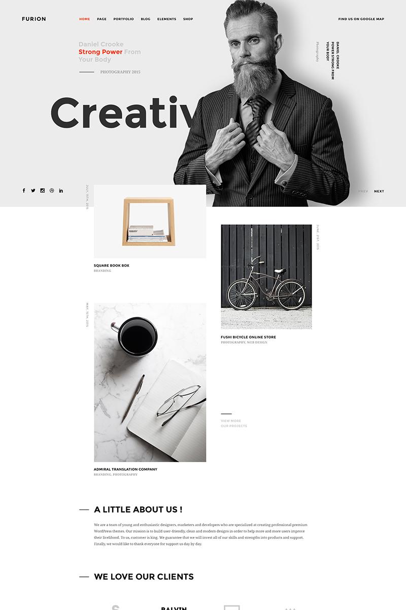 "PSD Vorlage namens ""Furion - Creative and Agency"" #64850"