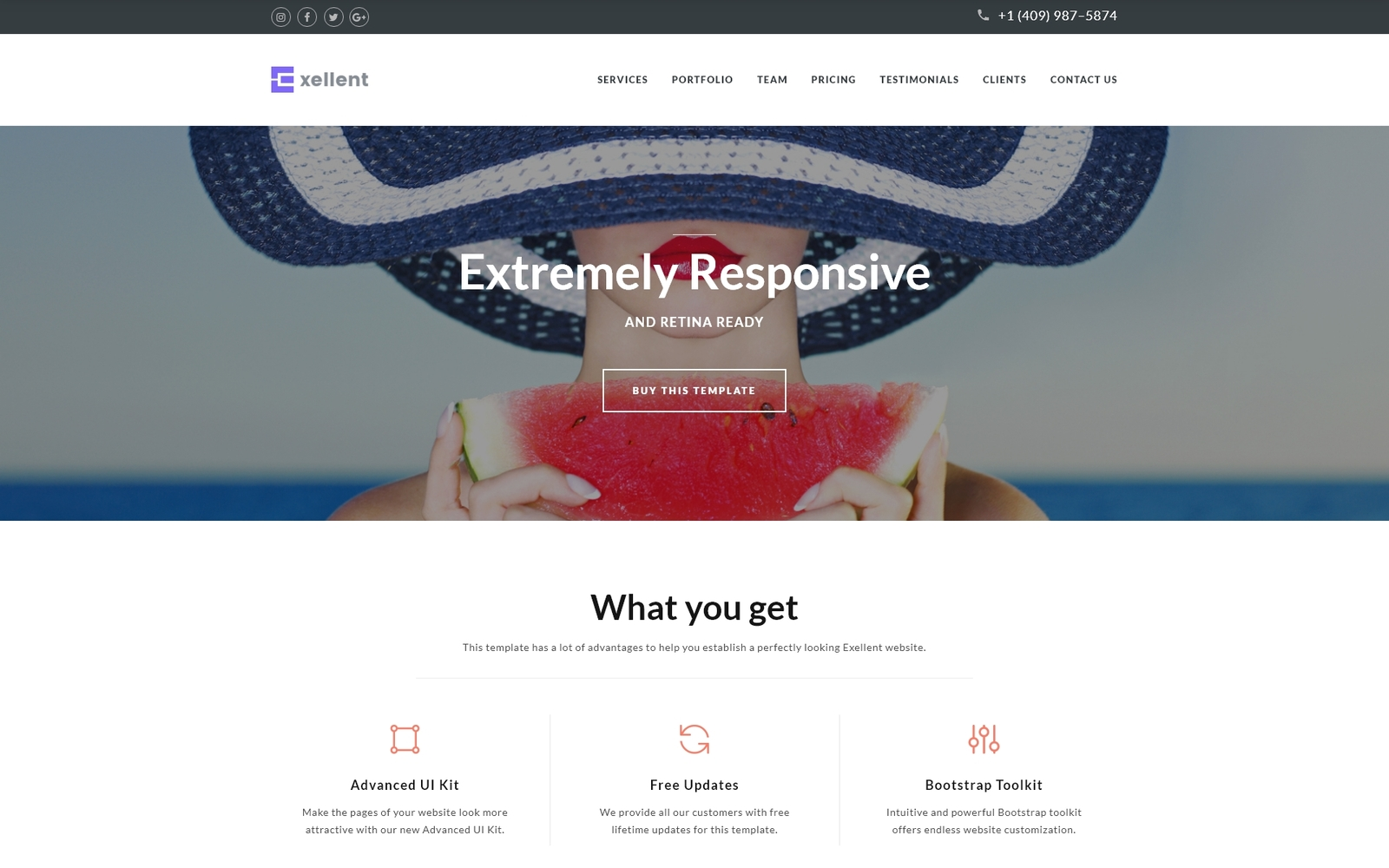 Responsivt Exellent - Startup Landing Page-mall #64886
