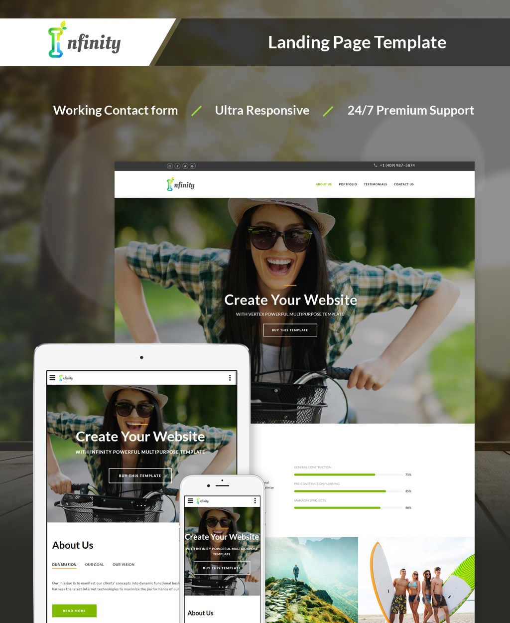 Responsivt Infinity - Personal Landing Page-mall #64891