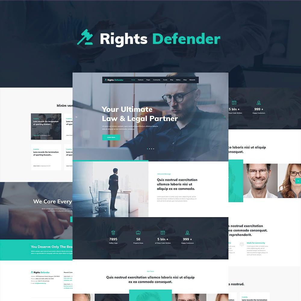 Responsywny motyw WordPress Rights Defender - Lawyer WordPress Theme #64848
