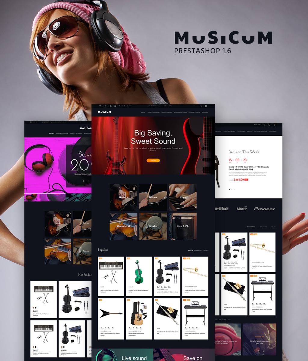Responsywny szablon PrestaShop Musicum #64882