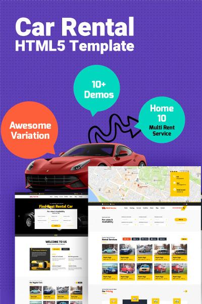 Responsywny szablon strony www #64880 na temat: wypożyczalnia samochodów