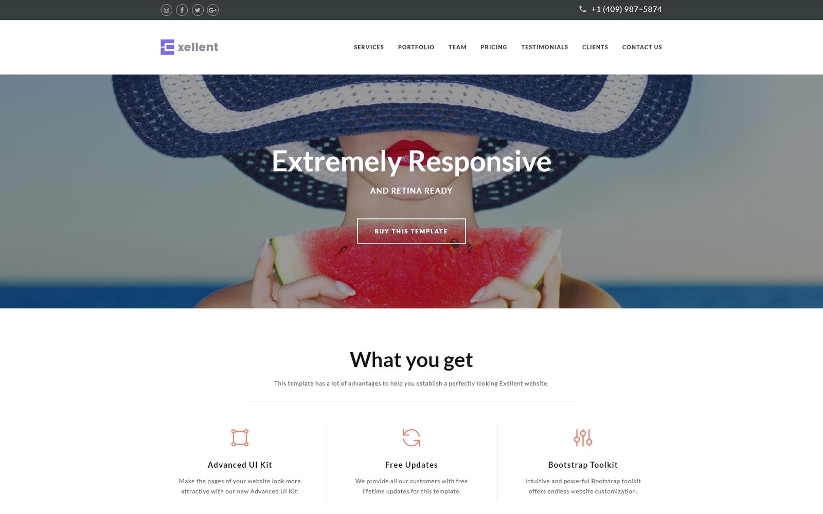 "Responzivní Šablona mikrostránek ""Exellent - Startup"" #64886"
