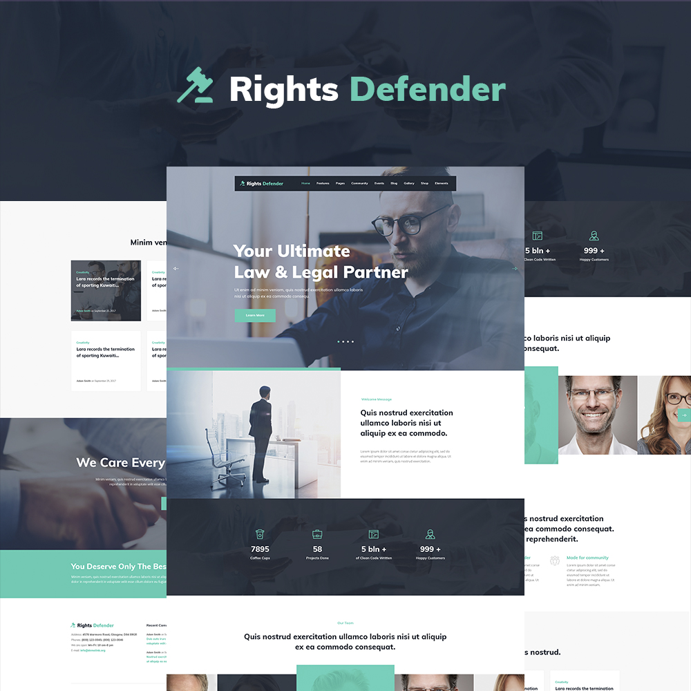 Rights Defender - Lawyer WordPress Theme WordPress Theme - screenshot