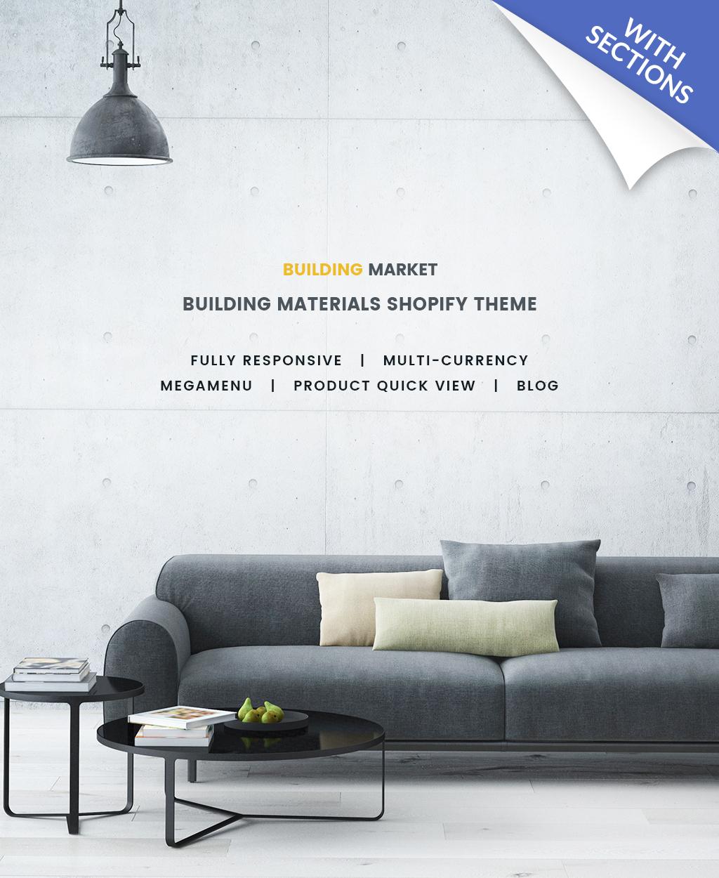Thème Shopify adaptatif pour magasin de matériaux de construction #64828