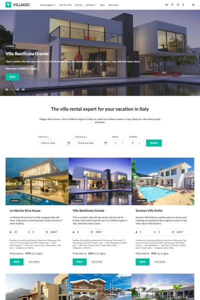 WordPress шаблон №64831 на тему агентство недвижимости