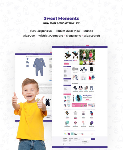 WholeSale - Baby Store OpenCart Template #64809