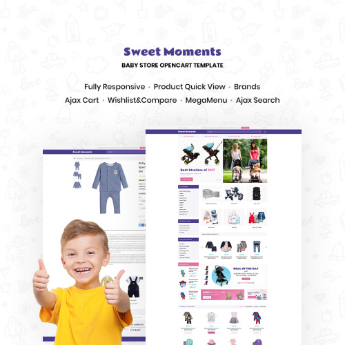 WholeSale - Baby Store - OpenCart Template based on Bootstrap