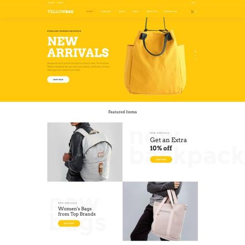 YellowBag - Handbag Responsive - Shopify Template based on Bootstrap