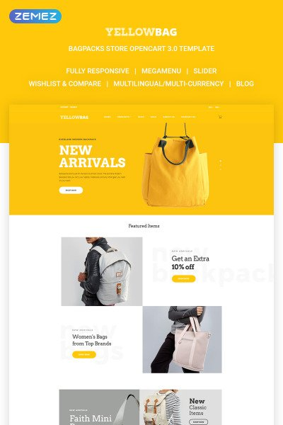 YellowBag OpenCart Template #64827