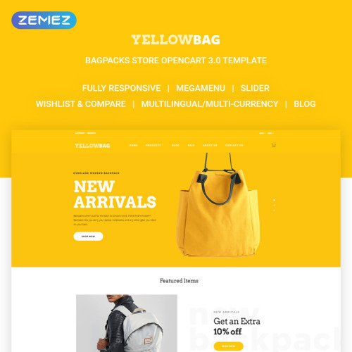 YellowBag - OpenCart Template based on Bootstrap