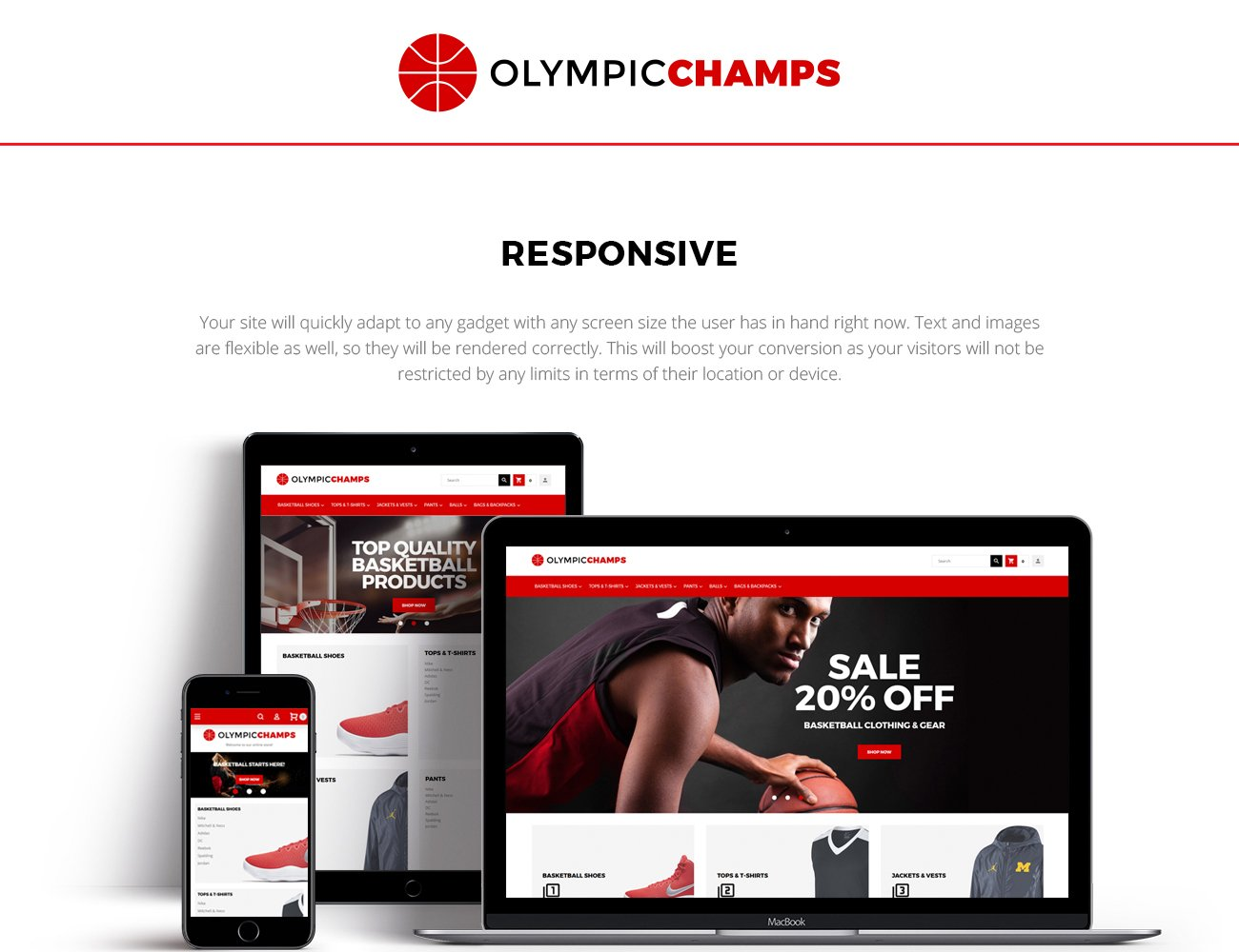 OlympicChamps - Basketball Store Magento Theme