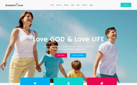 BrotherlyLove - Modern Church WordPress theme WordPress Theme