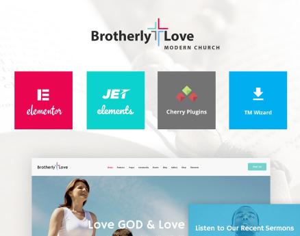 BrotherlyLove - Modern Church WordPress theme WordPress Theme
