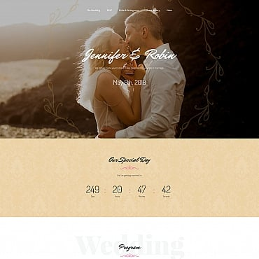 Preview image of Wedding Landing Page Template No. 64956