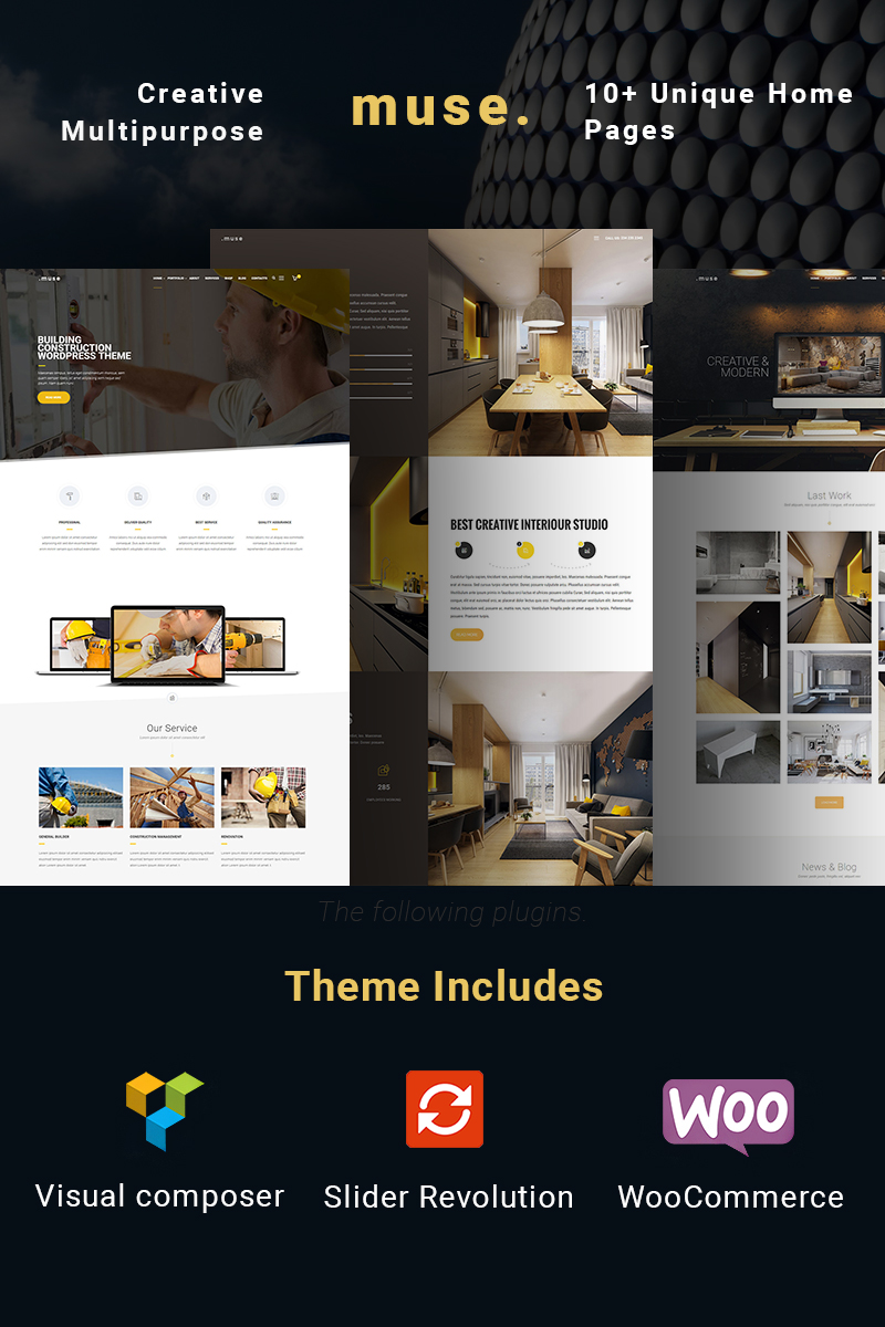 Website Design Template 64997 - clean corporate creative multipurpose builder portfolio building architecture company construction contractor industry interior repair plumber reconstruction renovation tiling