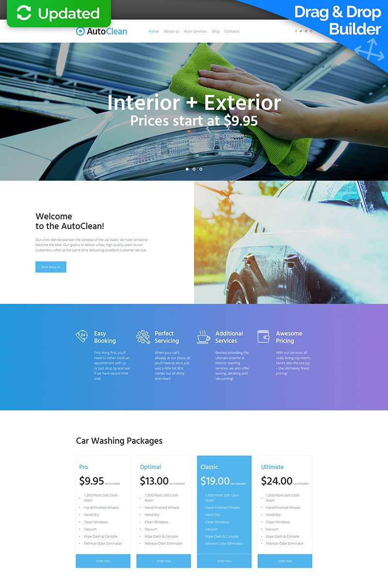 Car Wash Responsive Moto CMS 3 Template