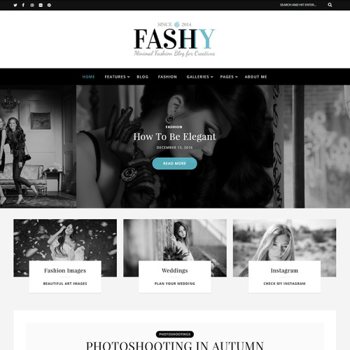 Fashy - Responsive WordPress Fashion Blog Template