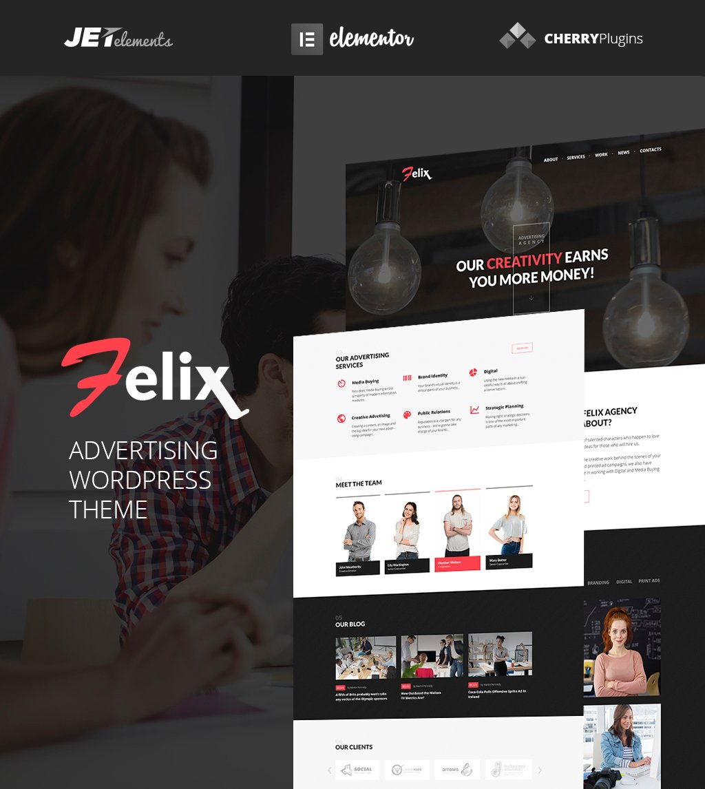 Felix Advertising Agency WordPress Theme WordPress Theme