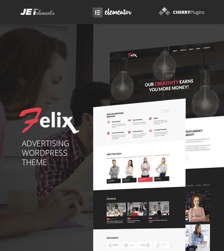 Felix Advertising Agency WordPress Theme WordPress Theme #64921