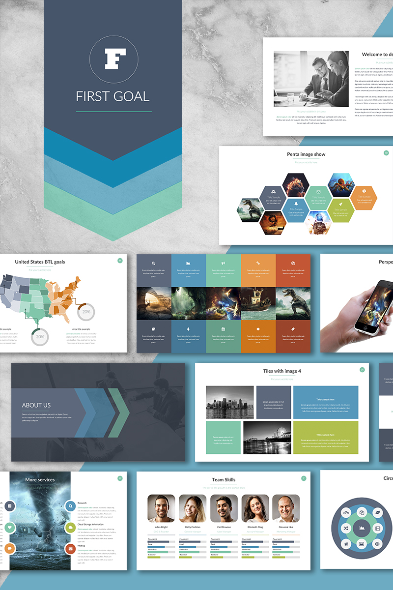 """First Goal"" Premium PowerPoint Template №64948"