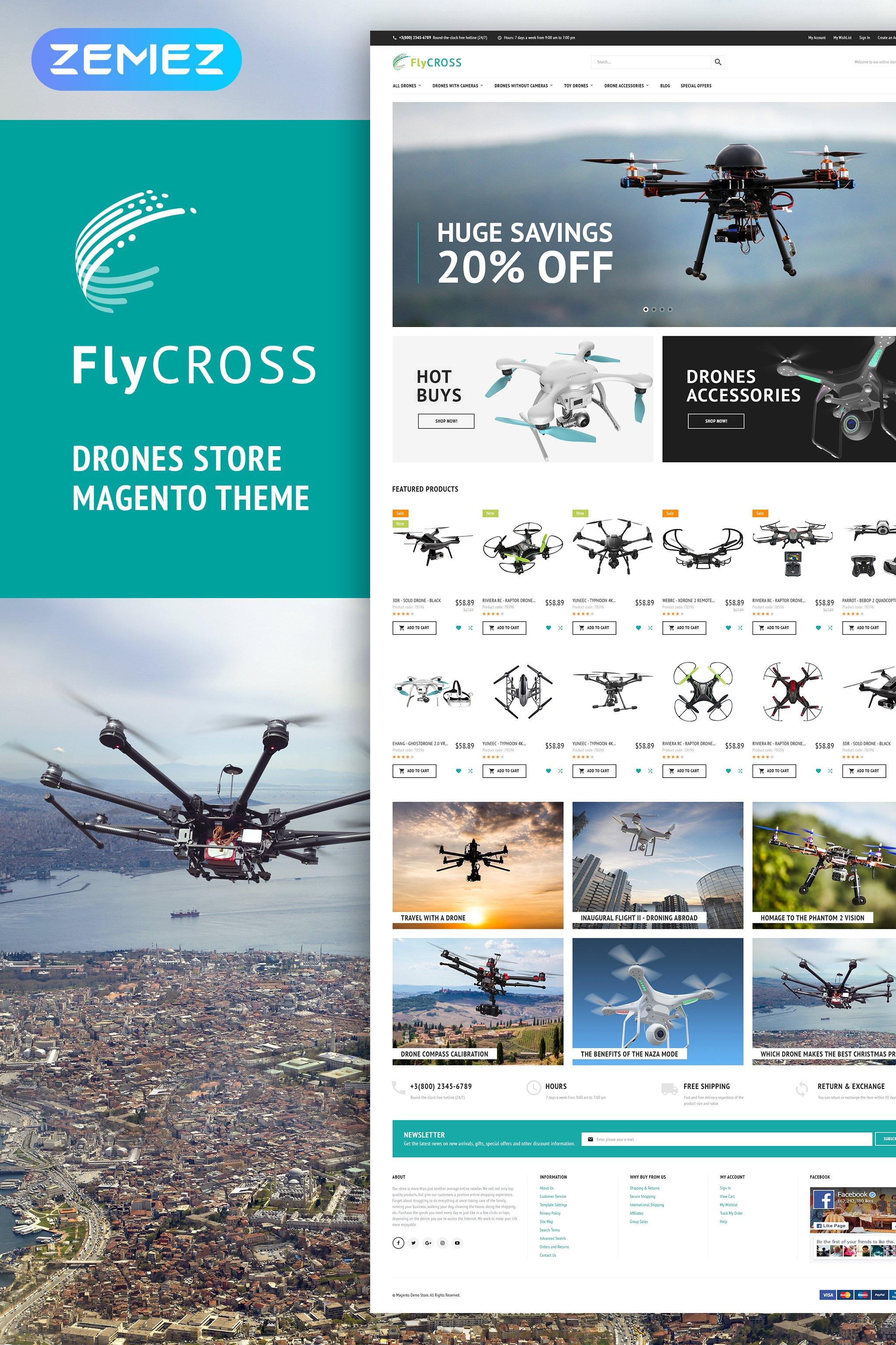 FlyCross - Drones Store Magento Theme