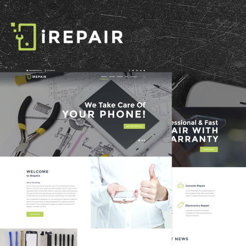 iRepair - Electronics Repair WordPress Theme - HTML5 WordPress Template