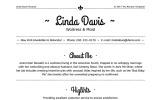 Linda Davis - Waitress & Maid Resume Template
