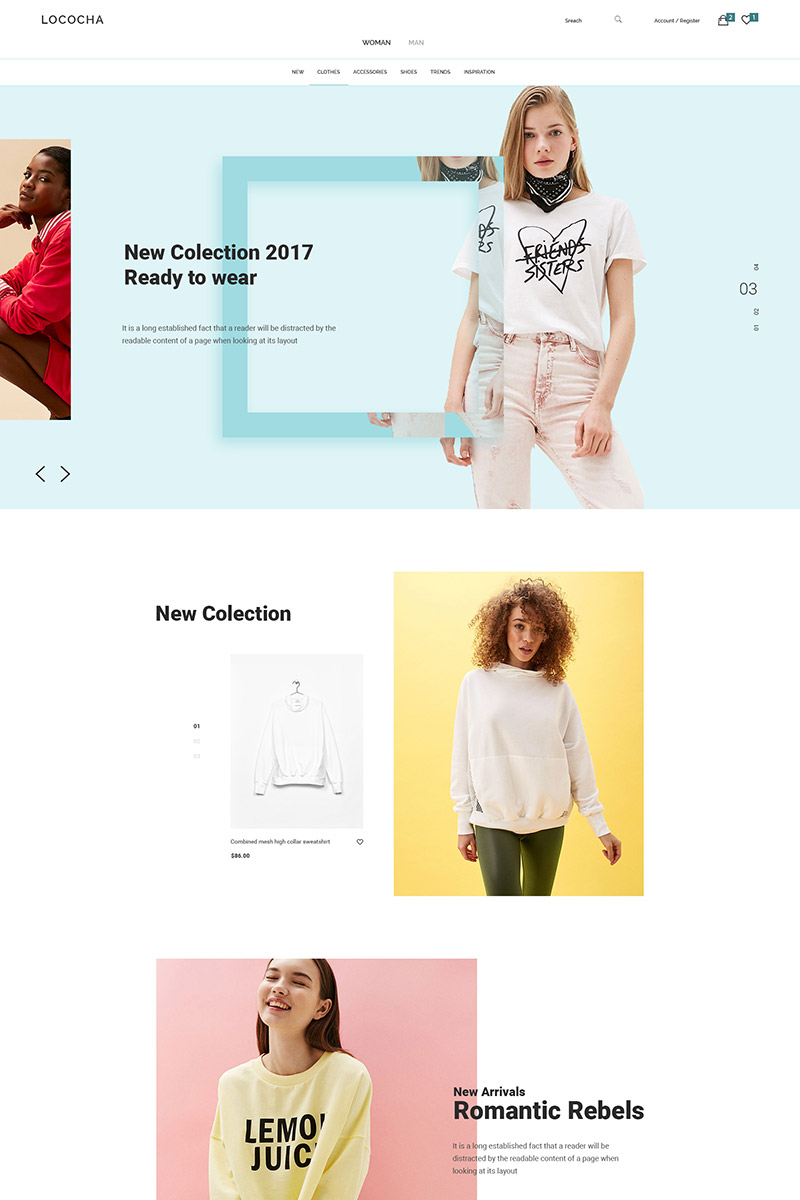 """Lococha - Fashion and Store"" modèle PSD  #64953"