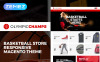 "Magento Theme namens ""OlympicChamps - Basketball Store"" New Screenshots BIG"