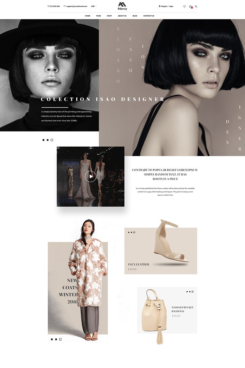 Mercy - Stunning Fashion eCommerce PSD Template