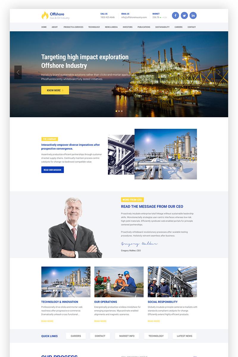 Offshore Industrial Business Responsive WordPress Theme - screenshot