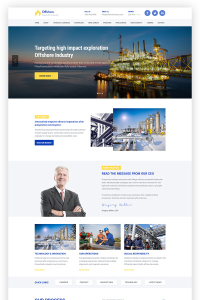 Offshore Industrial Business Responsive