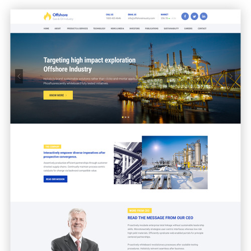 Offshore - WordPress Template based on Bootstrap