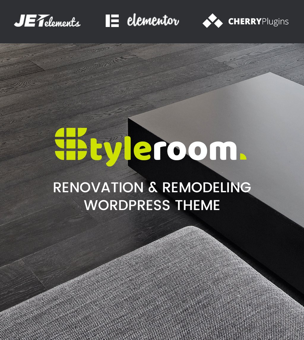 "Responzivní WordPress motiv ""StyleRoom - House Renovation Responsive WordPress Theme"" #64987"