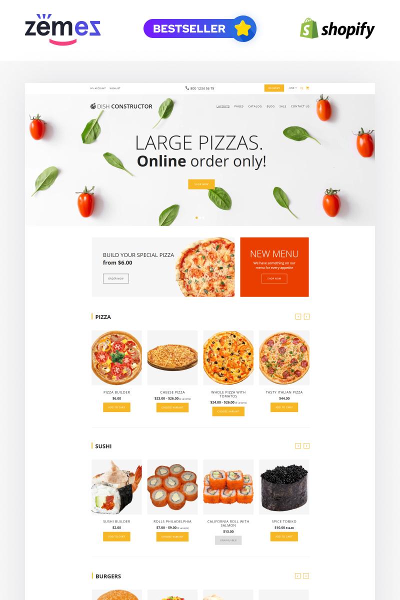 Reszponzív Étel és étterem Shopify sablon 64928