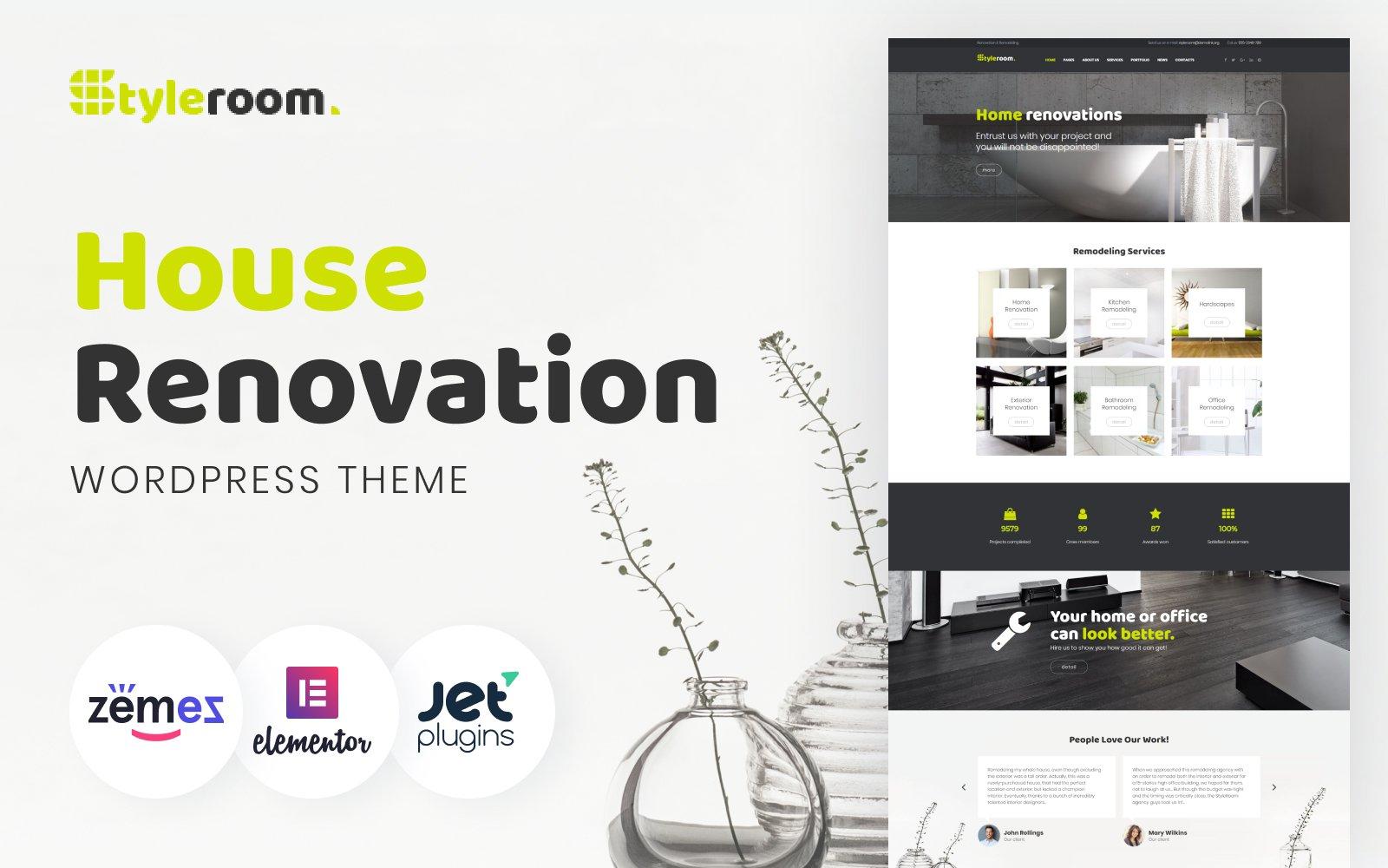 Reszponzív StyleRoom - House Renovation Responsive WordPress sablon 64987