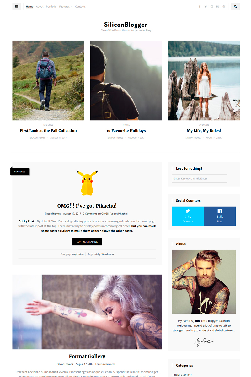 SiliconBlogger - Clean personal blog focused on readability WordPress Theme - screenshot